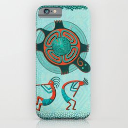 Visitors Anasazi Folk Art iPhone Case