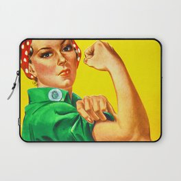 Italian Rosie The Riveter Woman Women Empowerment Women's Rights Italian American Laptop Sleeve
