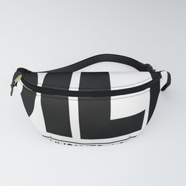 Mens DILF Dedicated Involved Loving Father Funny Dad Gift White Fanny Pack