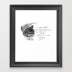 Drawing a day goes 100 Framed Art Print