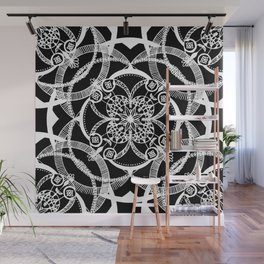 Dreams in White Satin Wall Mural