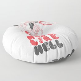 ride like hell Floor Pillow