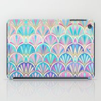 deco iPad Cases featuring Glamorous Twenties Art Deco Pastel Pattern by micklyn