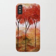 Burning Promise, Abstract Landscape Art iPhone X Slim Case