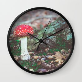 Under the Oak Wall Clock