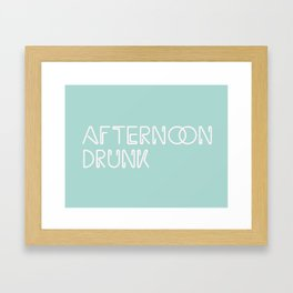 Afternoon Drunk Framed Art Print