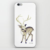 bambi iPhone & iPod Skins featuring Bambi by Emilie Steele