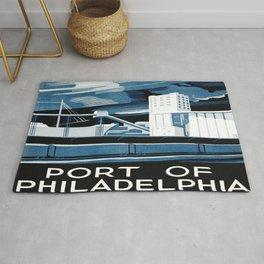 Vintage poster - Port of Philadelphia Rug