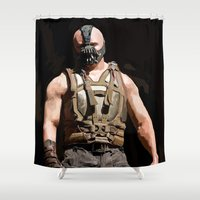 bane Shower Curtains featuring The Dark Knight Rises - Bane by Vito Fabrizio Brugnola