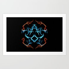 The Electrified Colors - Digital Work Art Print