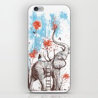brown iPhone & iPod Skins featuring A Happy Place by Norman Duenas