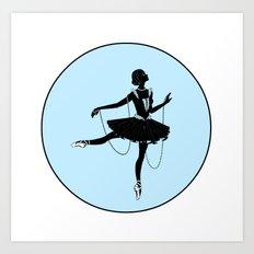 Ballerina Silhouette Art Print