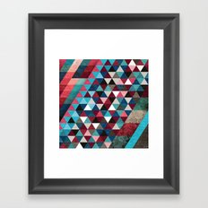 Geometric Candy Framed Art Print