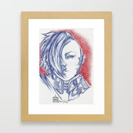 Blue Anime Poison Framed Art Print
