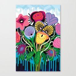 Dripping Gardens Canvas Print