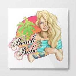 Beach Babe Metal Print