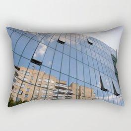 Modern skyscraper with glass wall of windows Rectangular Pillow