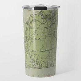 Vintage Map of Marthas Vineyard (1913) Travel Mug