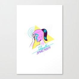 Telepathic sarcasm Canvas Print