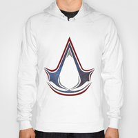 assassins creed Hoodies featuring Assassins Creed - Space by Fatih