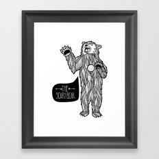 Scary Bear 2 Framed Art Print