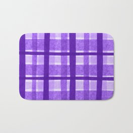Tissue Paper Plaid - Purple Bath Mat