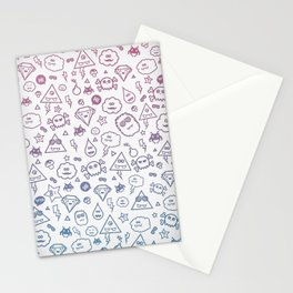 Cute & Sweet Monsters / Funny Clouds and Diamonds Stationery Cards