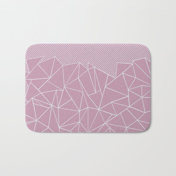 Ab Lines 45 Pink Bath Mat