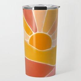 Wonderful Sunset Boho Travel Mug