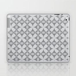 Abstract Circles - Gray Pattern Laptop & iPad Skin