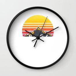 Longs Peak Colorado Sunset Hiking Wall Clock