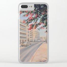 Eilat street Tel aviv_ Oil on canvas Clear iPhone Case