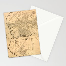 Vintage Map of The Mount Vernon Plantation (1801) Stationery Cards