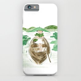 Lotus Girl iPhone Case