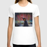 penguin T-shirts featuring Aurora Penguin by Michael Creese
