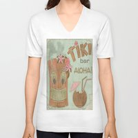 aloha V-neck T-shirts featuring Aloha by Robin Curtiss