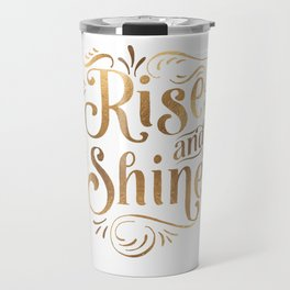 RISE AND SHINE Sign, Bedroom Decor,Home Decor,Living Room Decor,Motivational Quote,Rise And Grind Travel Mug