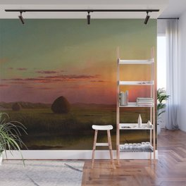Pink Sunset over Scituate, Rhode Island Marches Landscape by Martin Johnson Heade Wall Mural