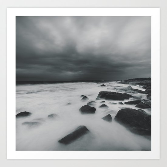 The White Coast Art Print