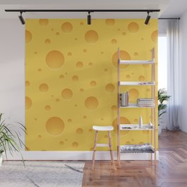 Fresh Cheese Pattern Wall Mural