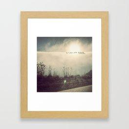 sturm und drang landscape Framed Art Print