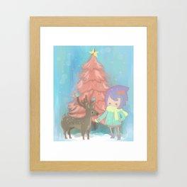 The deer with me. Framed Art Print