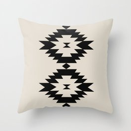 Southwestern Minimalism - Black Throw Pillow
