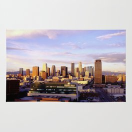 Los Angeles Skyline Sunset Rug
