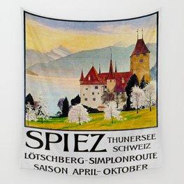Spiez Switzerland - Vintage Travel Poster Wall Tapestry