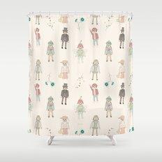 vintage toys Shower Curtain