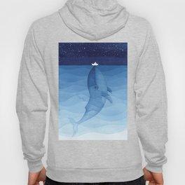 Whale blue ocean Hoody