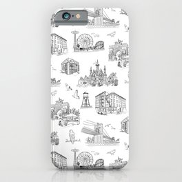 Brooklyn Toile - Black and White iPhone Case