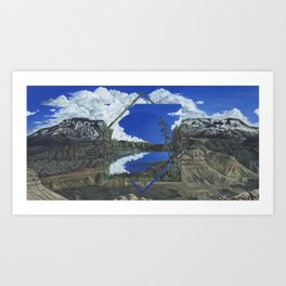 Grand Mesa Polyscape Art Print