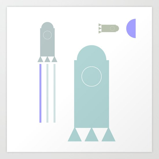 rakete 1 Art Print